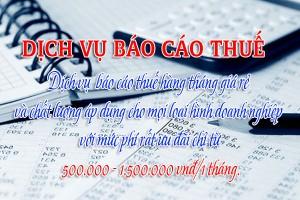 Dịch vụ báo cáo thuế hàng tháng tại Hà Nội